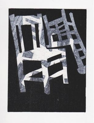 From a series of mono prints about chairs