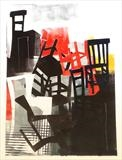 Dark Chair Tango by Sara Muzira, Artist Print, Monoprint