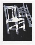 From a series of mono prints about chairs by Sara Muzira, Artist Print
